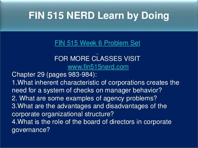 FIN 515 Managerial Finance Week 4 Homework Complete A+ Answer