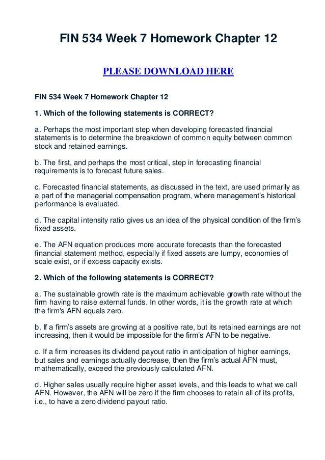 FIN 534 Week 7 Homework Chapter 12                      PLEASE DOWNLOAD HEREFIN 534 Week 7 Homework Chapter 121. Which of ...