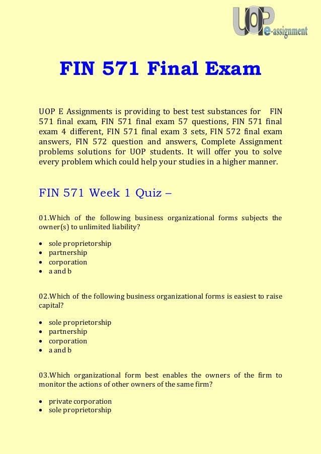 Fin exam