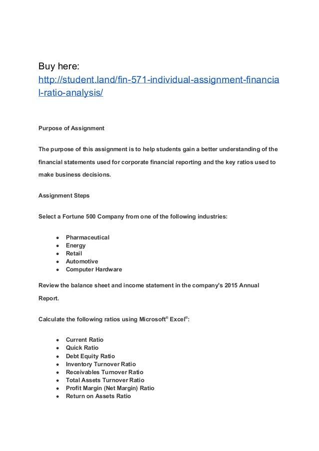 Fortune 500 company financial ratio analysis report Custom paper ...