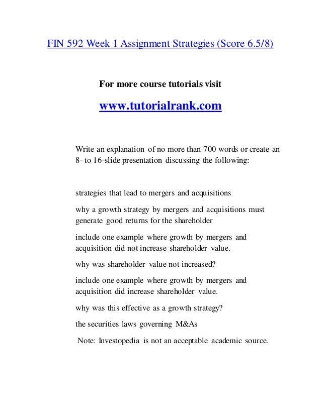 FIN 592 Inspiring Innovation/tutorialrank com