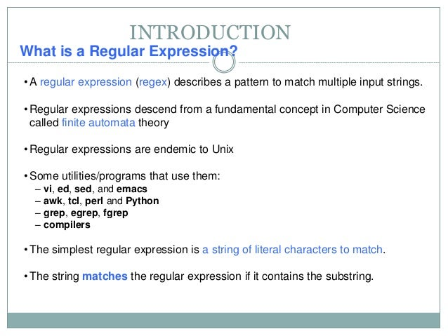 regular expression and its applications A complete guide on regular expressions in qtp (uft)   i want to use regular expression on sieble application we have different environments like development.