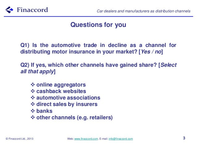 European Steel Manufacturers Sales And Distribution Companies Mail: Finaccord Presentation Car Dealers And Manufacturers As