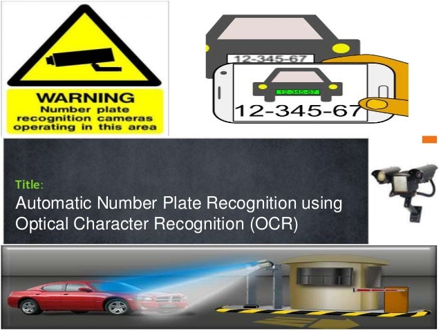 Automatic Number Plate Recognition Anpr  System Project