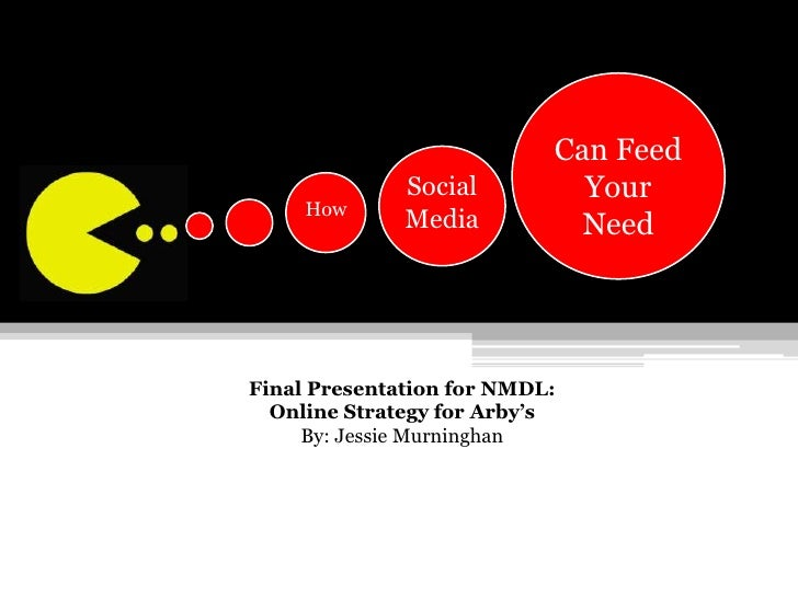 Can Feed Your <br />Need<br />Social Media<br /> How<br />Final Presentation for NMDL: <br />Online Strategy for Arby's<br...