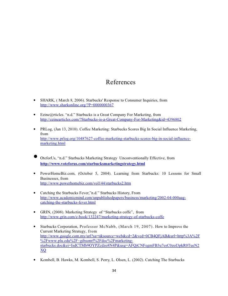 Starbucks Essays (Examples)