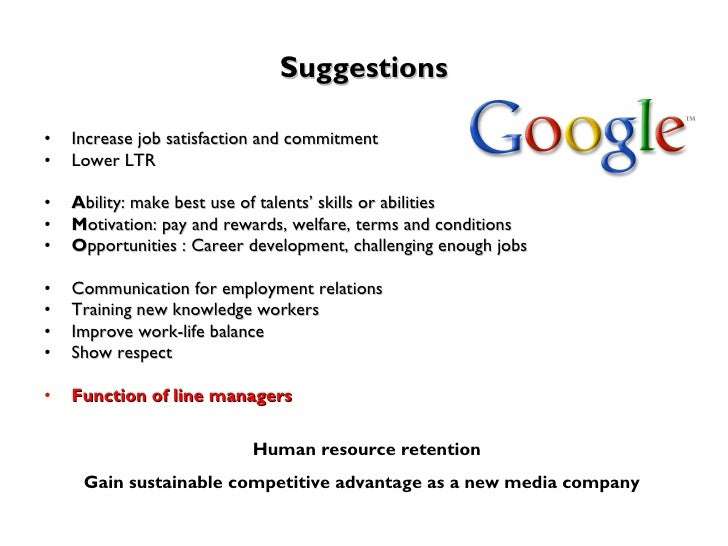 Google: Human Resource Strategy Essay