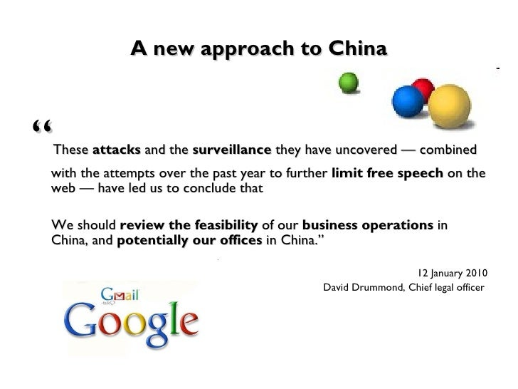 google inc in china essay Us based google the leading internet search engine company in the world started providing its services in china in 2000 though google google's problems in china.