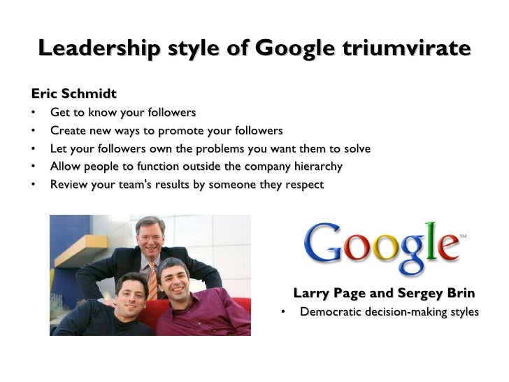 Larry Page Exceptional Leadership Style and Effect...
