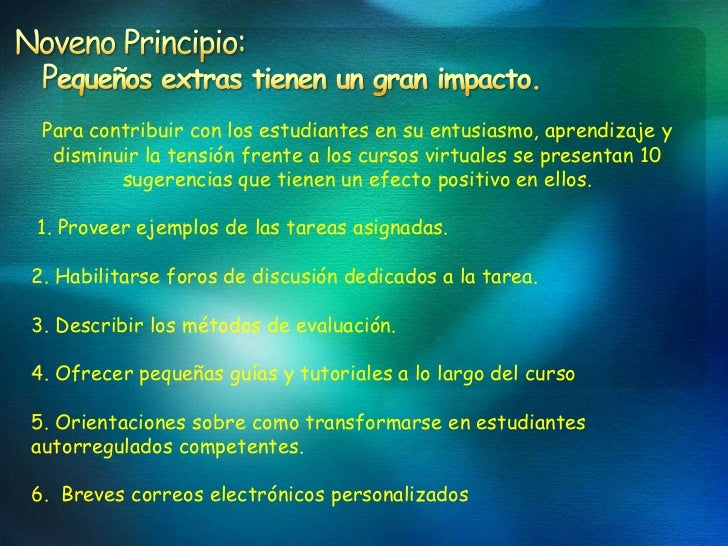 Nueve Principios