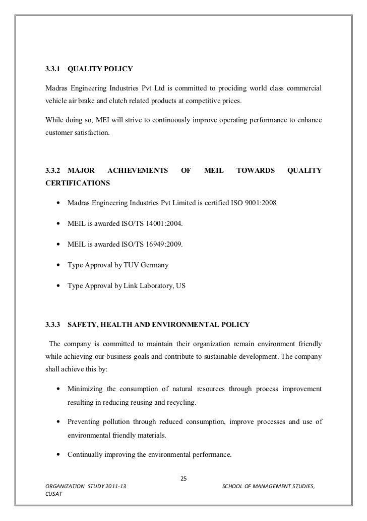 organisational study report  25