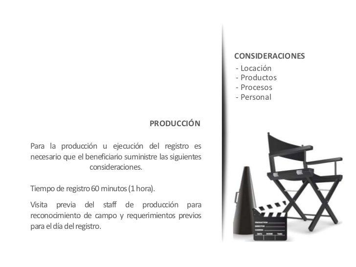 CONSIDERACIONES                                                          - Locación                                       ...