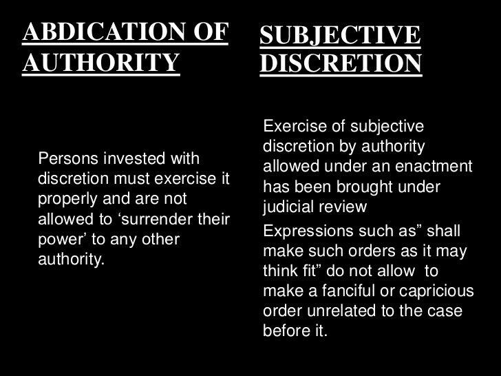 administrative discretion and judicial review