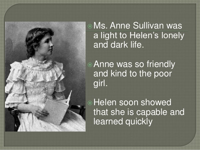 autobiographical essay water by helen keller