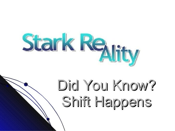 Did You Know? Shift Happens