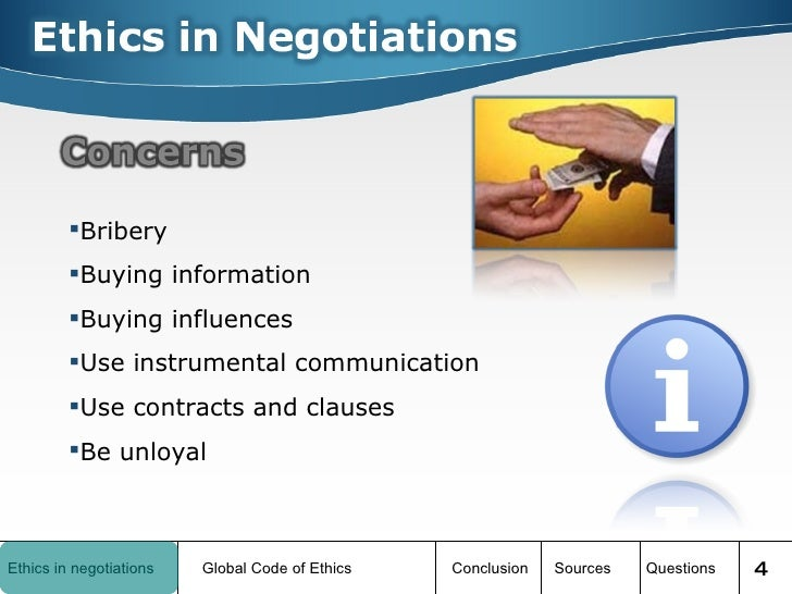 negotiating ethics One of the ethical issues that may arise when an employment or business  relationship is terminated can be captured in the following three.