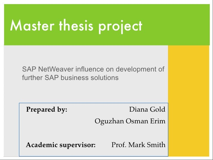 Sap master thesis germany