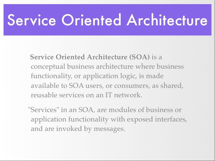 Service oriented architecture phd thesis