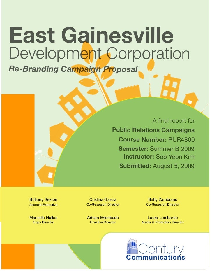East GainesvilleDevelopment CorporationRe-Branding Campaign Proposal                                                      ...