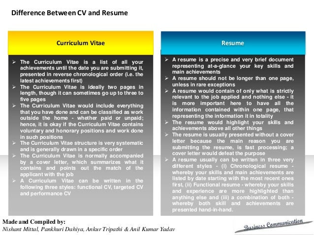 cv and application letters