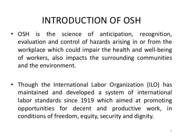 ippp concept for health and safety The concept of occupational safety and health definition of occupational health: since 1950, the international labor organization (ilo) the concept of morale.