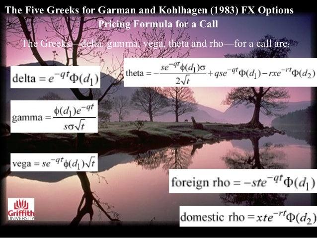 Pricing fx options garman kohlhagen