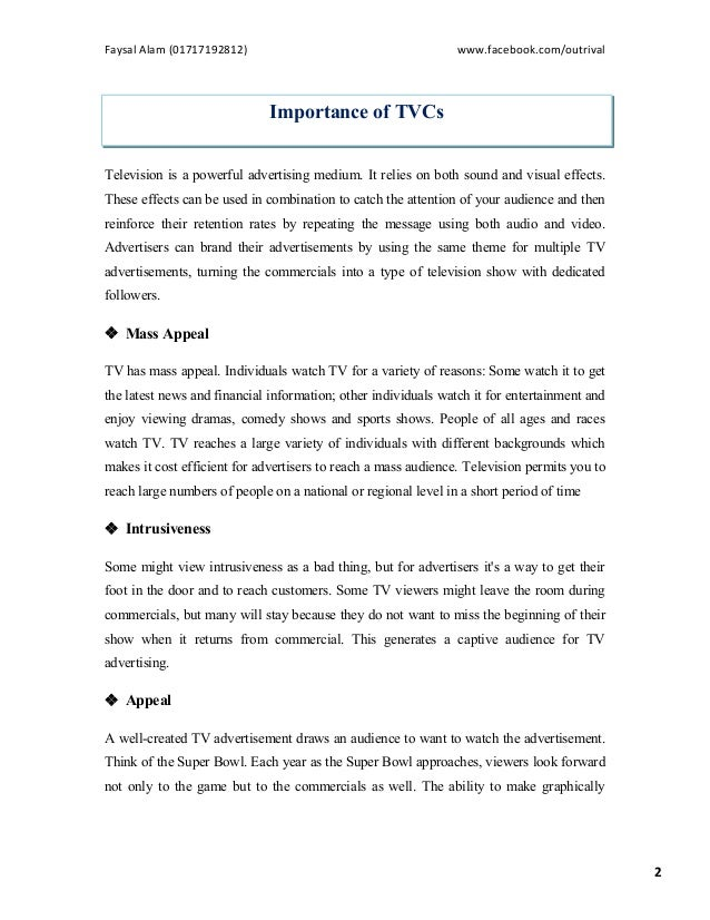 A Study on Bangladeshi Television Commercials (TVCs)