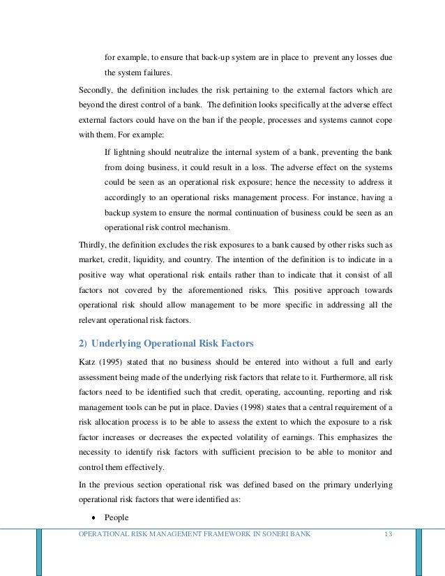 risk management framework in banks pdf