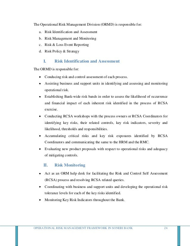Operational risk management in banks thesis