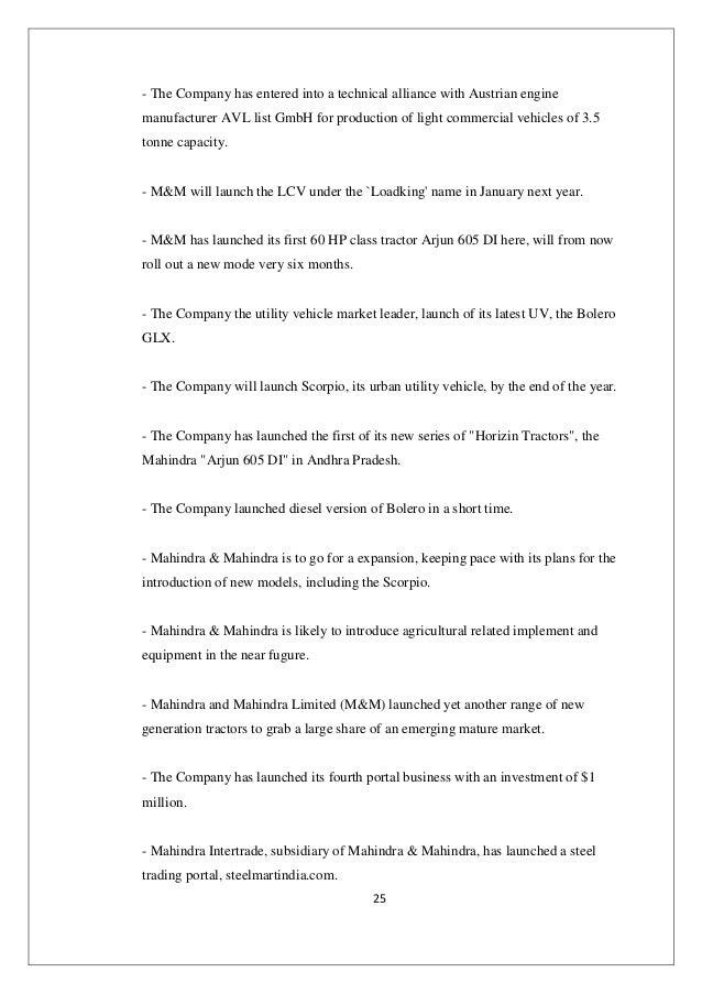 Complete analysis of Mahindra & Mahindra