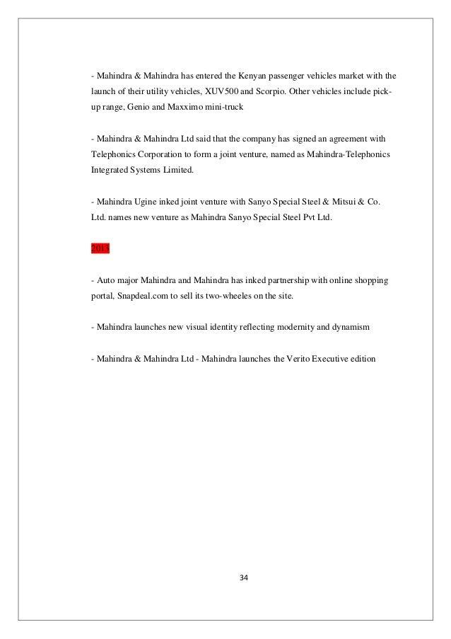 Complete ysis of Mahindra & Mahindra on