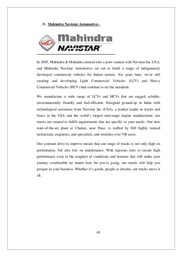 stp analysis of mahindra scorpio Project presentation of swot analysis of mahindra stp segment : mahindra bolero 2 mahindra renault logan 3 mahindra scorpio 4 mahindra verito 5.