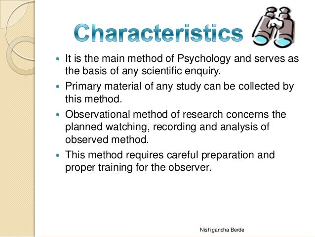 Steps and Methods used in Qualitative Observational Research
