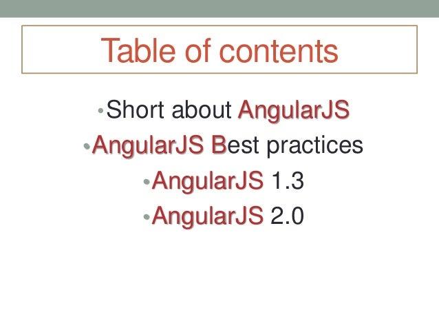 AngularJS Best Practices Slide 2