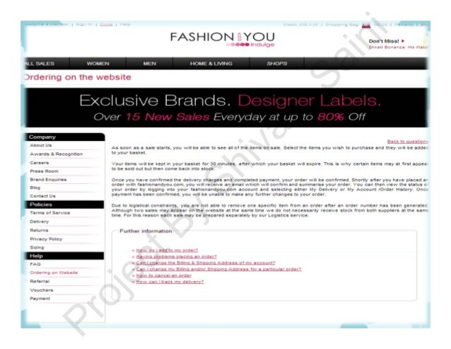 Fashion and you login page 54