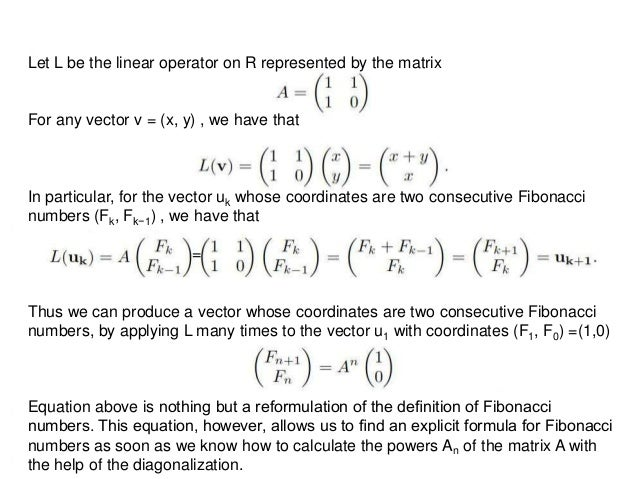 Fibonacci numbers and matrices