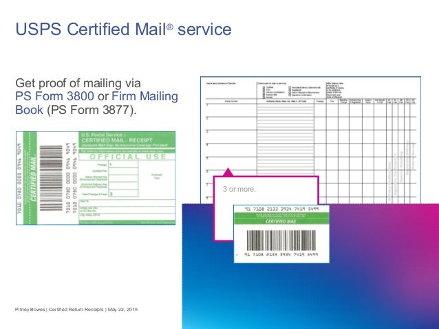 Certified Return Receipt Go Electronic To Cut Costs Improve Process