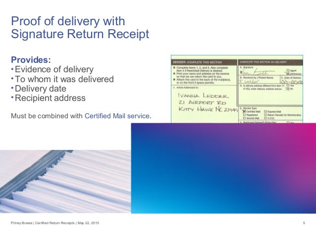 certified return receipt u2014go electronic to cut costs