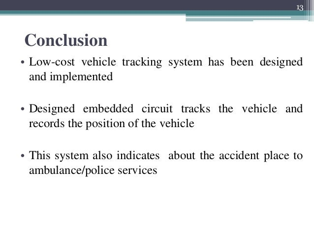 Conclusion tracking system