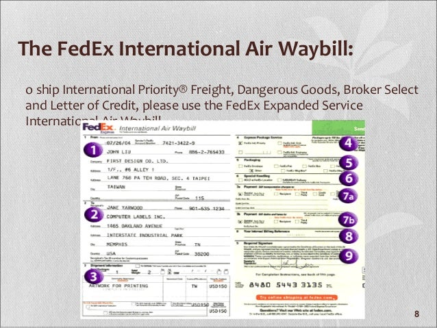 fedex expanded service international air waybill pdf