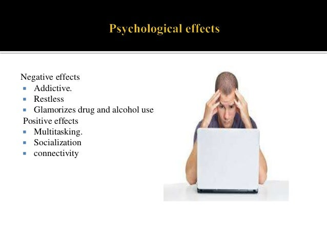 psychological effects of technology addiction Technology addiction essays and research papers psychological effects of technology addiction technology is taking over all aspects of life.