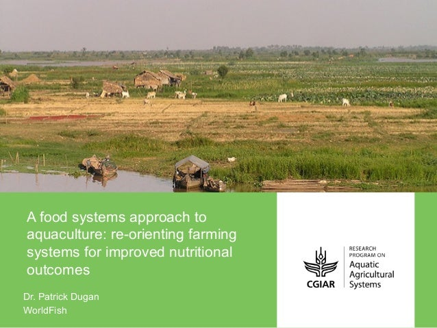 A food systems approach to aquaculture: re-orienting farming systems for improved nutritional outcomes Dr. Patrick Dugan W...