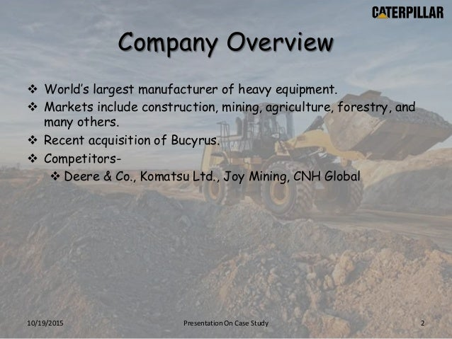 case study on komatsu limited Case i 2 komatsu ltd and project g case analysis the above case provides its  readers with a detailed description of the key organizational and strategic.