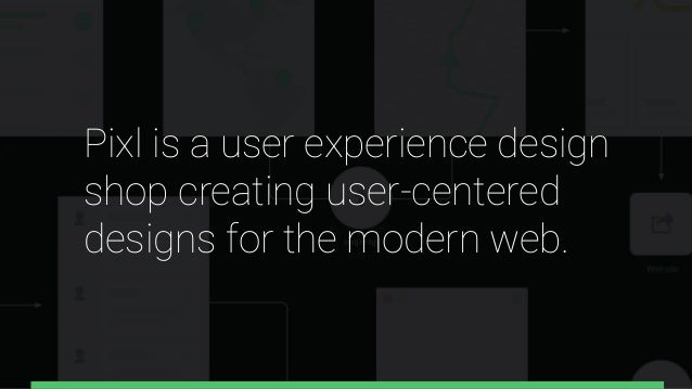Pixl is a user experience design shop creating user-centered designs for the modern web.