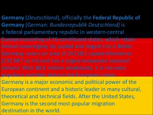 facts of Germany