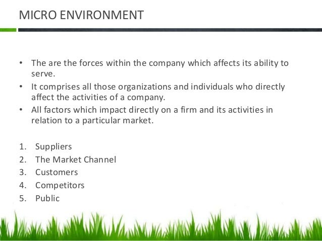 macro environmental factors affecting marketing The macro environment helps to consider the different factors of the macro environment the macro environment - six forces in the environment of a business demographic forces in the macro environment the socio-cultural forces link to factors that affect society's basic values.