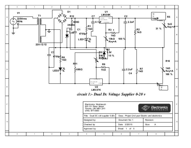 report on dc voltage supplier with seven