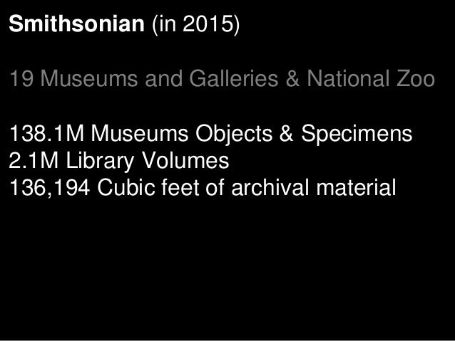 Digital Learning Resources Project (2012) To assist the Smithsonian to better understand the educational uses of Smithsoni...