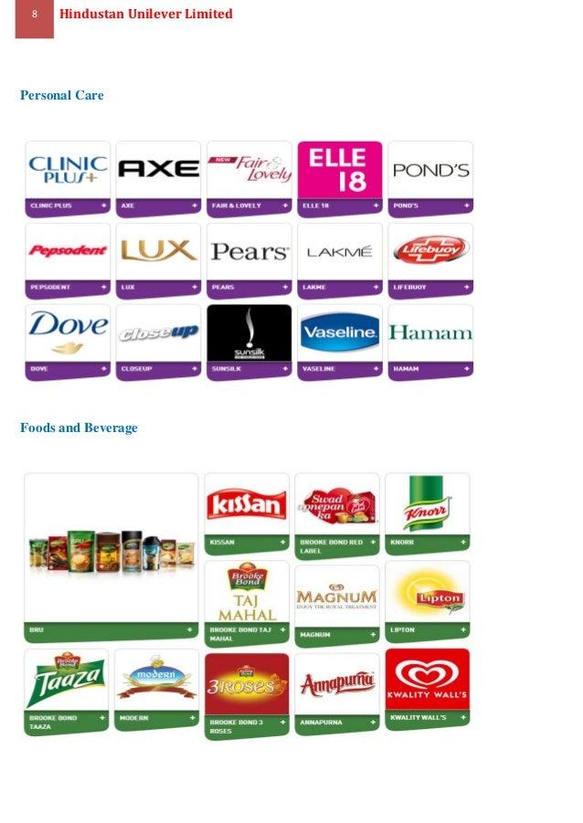 hindustan unilever products list pdf