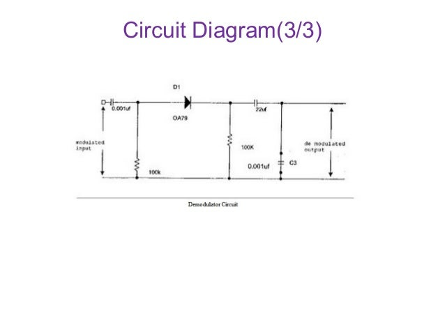 am modulation and demodulation with circuit and output rh slideshare net amplitude demodulation circuit diagram am demodulator circuit diagram